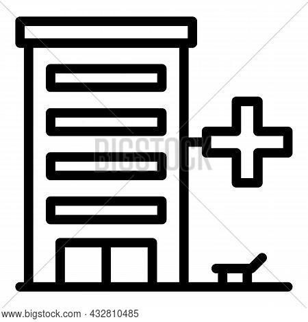 Medical Building Icon Outline Vector. Clinic Hospital. Healthcare Center