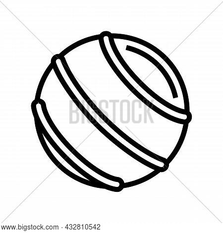 Ball Fitness Accessory Line Icon Vector. Ball Fitness Accessory Sign. Isolated Contour Symbol Black