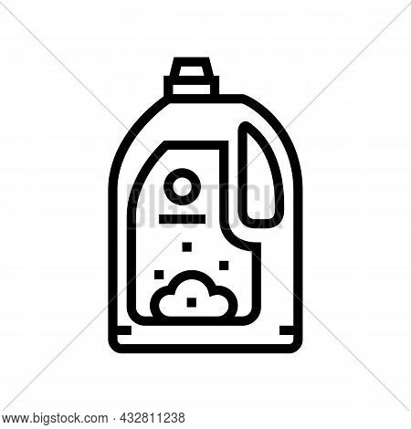 Conditioner For Wash Textile Clothing Line Icon Vector. Conditioner For Wash Textile Clothing Sign.