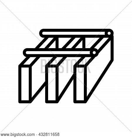 Bar Grating Metal Line Icon Vector. Bar Grating Metal Sign. Isolated Contour Symbol Black Illustrati