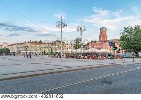 Czestochowa, Poland - June 6, 2021: Square Of Dr. Wladyslaw Bieganski.