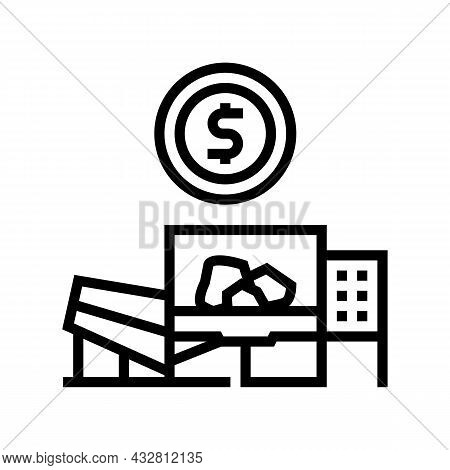 Plant And Equipment Sales Line Icon Vector. Plant And Equipment Sales Sign. Isolated Contour Symbol