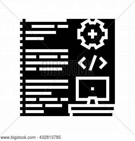 Software Developing Glyph Icon Vector. Software Developing Sign. Isolated Contour Symbol Black Illus