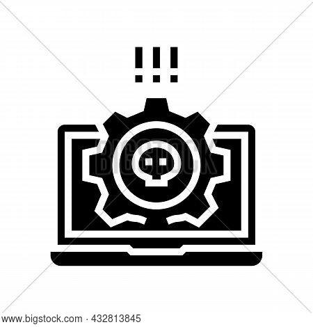Antivirus Software Glyph Icon Vector. Antivirus Software Sign. Isolated Contour Symbol Black Illustr
