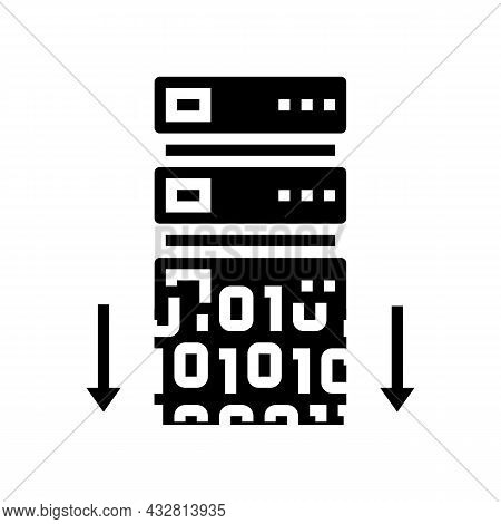 Data Security Glyph Icon Vector. Data Security Sign. Isolated Contour Symbol Black Illustration
