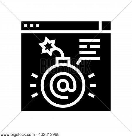 Fraud Internet Problem Glyph Icon Vector. Fraud Internet Problem Sign. Isolated Contour Symbol Black