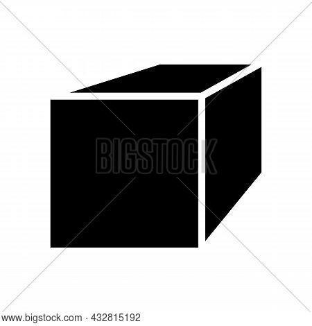 Square Bar Metal Profile Glyph Icon Vector. Square Bar Metal Profile Sign. Isolated Contour Symbol B