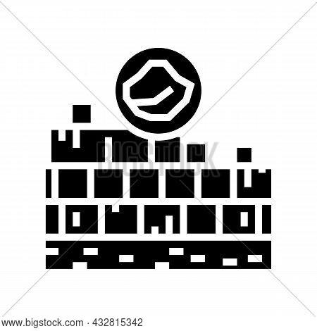 Limestone Quarry Glyph Icon Vector. Limestone Quarry Sign. Isolated Contour Symbol Black Illustratio