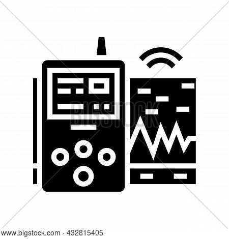 Vibration Assessment Glyph Icon Vector. Vibration Assessment Sign. Isolated Contour Symbol Black Ill