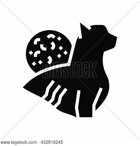 Cat Scratch Disease Glyph Icon Vector. Cat Scratch Disease Sign. Isolated Contour Symbol Black Illus