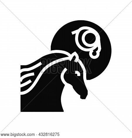 Leptospirosis Horse Glyph Icon Vector. Leptospirosis Horse Sign. Isolated Contour Symbol Black Illus