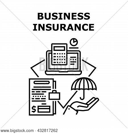 Business Insurance Vector Icon Concept. Business Insurance For Protect Company And Investment. Offic
