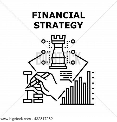 Financial Strategy Vector Icon Concept. Financial Strategy For Safe And Earning Money, Researching F