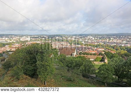 Besancon Town In France From The Citadel