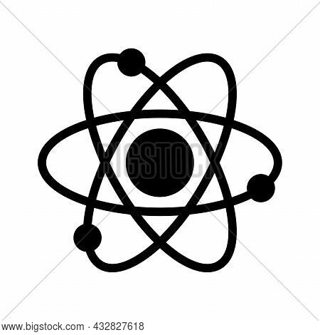 Atom Electrons Icon Isolated On White Background. Atom Electrons Icon Modern Symbol For Graphic And