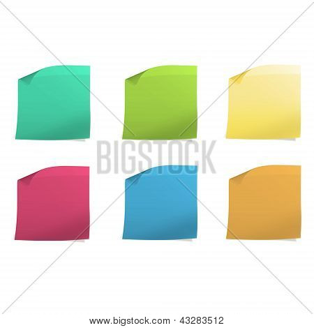 Colorful Post It. Vector Design