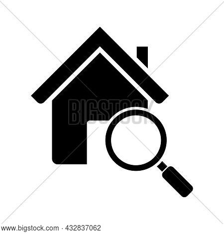 Search Home Icon Vector Isolated On White Background, Search Home Icon Simple Sign. Search Home Icon