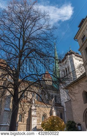 The St. Pierre Cathedral Of Geneve. Switzerland