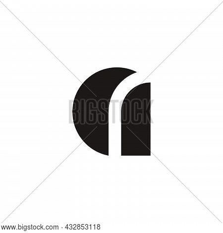 Letter A Lowercase Geometric Simple Logo Vector