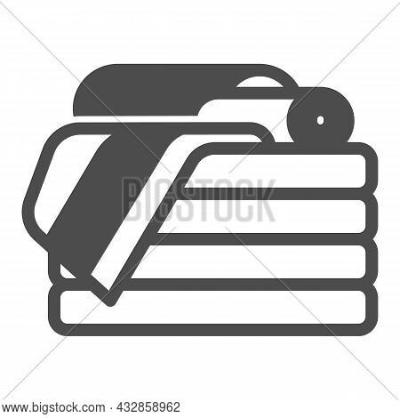 Stack Of Towels Solid Icon, Interior Design Concept, Stack Of Folded Towels Vector Sign On White Bac