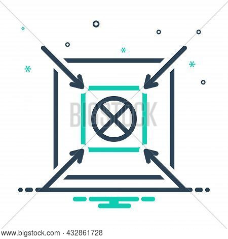 Mix Icon For Shoot Center Accurate Target Goal Ambition Archery Archer Concentration