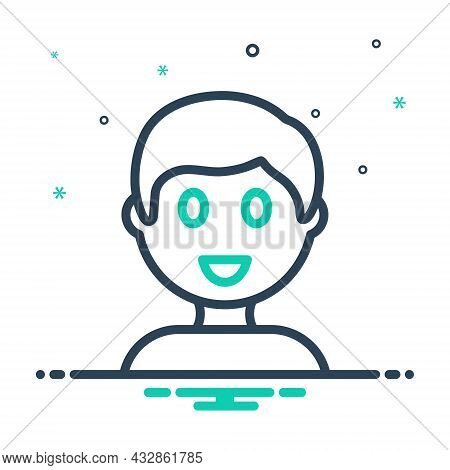 Mix Icon For Boy Bloke Lad Youngster Juvenile Jack Fellow Youth Pupil