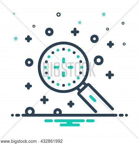 Mix Icon For Discover Magnifying Detect Explore Find-out Search Discovery Finding Recognize Observe