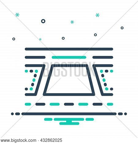 Mix Icon For Plot Plan Scheme Tract-of-land Design Property Residential Location Architecture