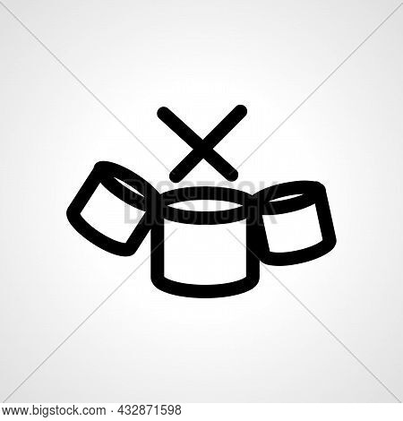 Drum Vector Line Icon. Drums Linear Outline Icon.