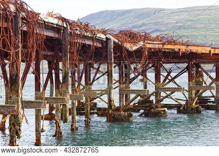 Details (old Pier) Of An Abandoned Naval Base On Iceland (hvítanes, Hvalfjördur). Used In World War
