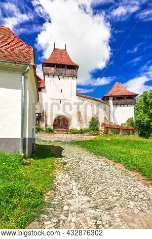 Viscri, Romania. Medieval Saxon Church Of Transylvania, World Heritage Site, Famous Holiday Destinat