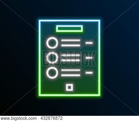 Glowing Neon Line Coffee Menu Icon Isolated On Black Background. Design A Menu For The Cafe, A Resta
