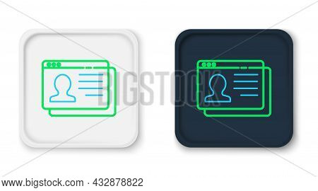 Line Resume Icon Isolated On White Background. Cv Application. Searching Professional Staff. Analyzi