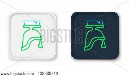 Line Roman Army Helmet Icon Isolated On White Background. Colorful Outline Concept. Vector
