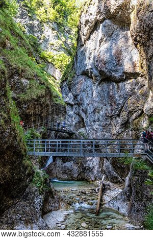 The Wild-romantic Almbachklamm In The Berchtesgaden Land Is A Popular Excursion Destination For Many