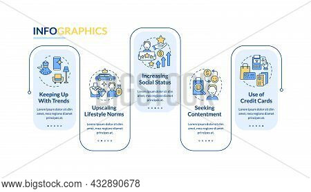 Consumerism Reasons Vector Infographic Template. Buying Presentation Outline Design Elements. Data V