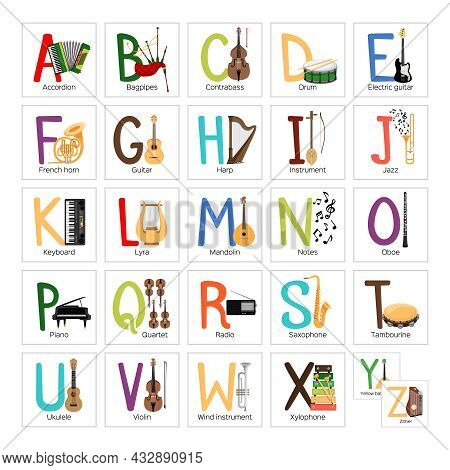 Abc For Kids With Cool Musical Instruments