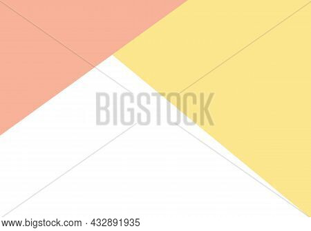 Abstract Pastel Colored Paper Texture Minimalism Background. Minimal Geometric Shapes And Lines In P