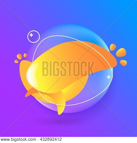 Abstract Modern Purple And Orange Kids Background. Gradient Abstract Banners With Flowing Liquid Sha