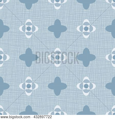 Quatrefoil Seamless Vector Pattern Background. Azulejo Style Backdrop With Historical Foil Motifs In