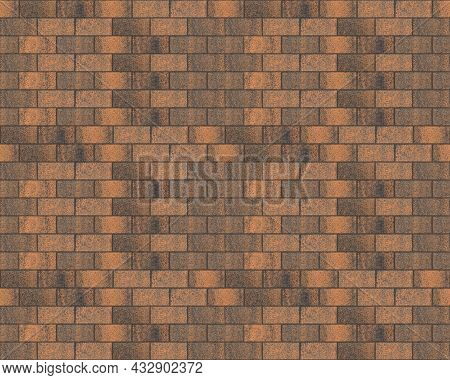 Seamless Pattern Of Paving Stones For The Device Of Paths. Paths For Parks And Recreation Areas. The