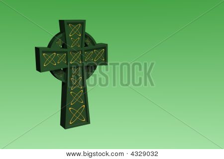 Celtic Cross, 3D Rendered, With Copy Space