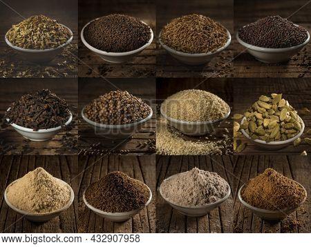 Fennel, Black tee, Cumin, Black mustard seeds, Cloves Coriander, Sesame seeds, Green cardamom, Asafoetida powder, Thymol seeds, Black salt, Garam Masala Chai