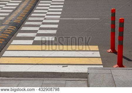 Artificial Obstacle On The Roadway To Slow Down Traffic