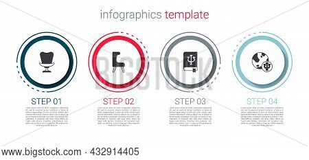 Set Armchair, , Psychology Book, Psi And Psychology, . Business Infographic Template. Vector