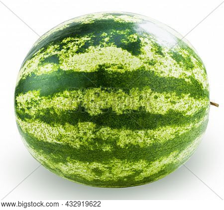 Watermelon Isolated On White Background With Clipping Path.