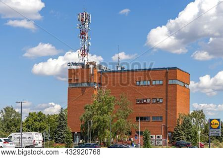 Belgrade, Serbia - August 06, 2021: Telecom Serbia Post Office Building In Zeleznik.