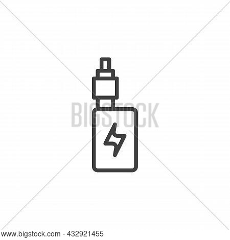 Vape Mod Line Icon. Electronic Cigarette Linear Style Sign For Mobile Concept And Web Design. Vaping