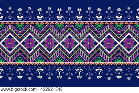 Oriental Ethnic Seamless Pattern Traditional Background Design For Carpet, Wallpaper, Clothing, Wrap