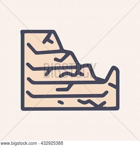 Broken Ventilation Grill Color Vector Doodle Simple Icon
